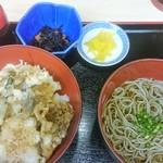 78983508 - ハゼとキノコの天丼定食 950円