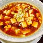 御膳火鍋 - 麻婆豆腐も少々辛め。 サラッとした質感。