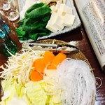 御膳火鍋 - 野菜達〜⭐︎ 肝心のお肉撮り忘れるんやで〜…(о´∀`о)