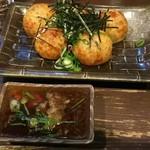 翁 - おろしぽん酢タコ焼き