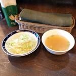 ソイ六本木 - ランチセットのサラダとスープ