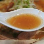 麺や 齋とう - 豚骨煮干しラーメンのスープ