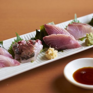 豊洲直送の厳選鮮魚。店長が毎日一番美味しい魚を仕入れています