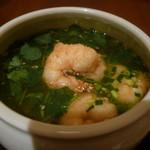 原宿はしづめ - 海老とパクチーの温麺