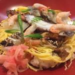 すし丸本店 - 松山名物の「もぶり飯」。愛媛のばら寿司の豪華版です。