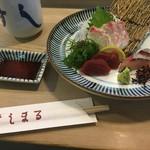 すし丸本店 - 三種盛りは愛媛の代表のお魚です。