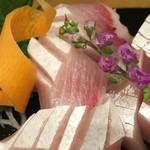 和食Bar梟の城 - 本日のお刺身から、ブリのお刺身。