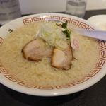 中華そば きび - こってり背脂中華そば 700円 + 麺大盛 100円 + ご飯 100円