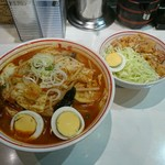 蒙古タンメン中本 - 五目味噌タンメン+吉祥飯