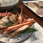 和食Bar梟の城 - カニ付コースは3,500円