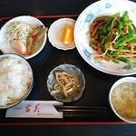 78996956 - ピーマンと豚肉のピリ辛炒め定食