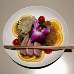 Koubemotomachibetsukambotanen - 水仙コース 前菜三種 クラゲ 蒸し鶏 焼豚