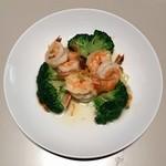 神戸元町別館 牡丹園 - 海老とブロッコリーの炒め物