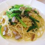 メゾンクレール - 小松菜とベーコンのサラダ