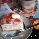 ロカシカカフェ - いちじくのケーキとロカシカブレンド