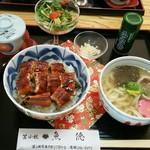 鮨処魚徳 - うな丼セット