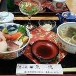 鮨処魚徳 - 生ちらしセット
