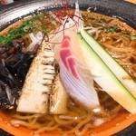 麺処 彩 - 鯛刺たけのこキクラゲきゅうりネギ