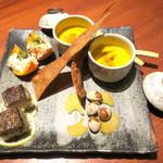 蕎麦と魚 銀平 - 季節の前菜4種