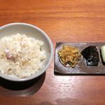 蕎麦と魚 銀平 - 鯛めし