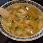 天慎飯店 - 料理写真:蝦仁湯麺(海老ラーメン)