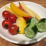 黒川 かきのすけ - サラダバーの野菜たち
