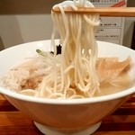 五ノ神水産 - 五ノ神水産@淡路町 らーめん銀だら絞りの麺