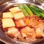 和酒おのろじ - 鶏豆腐すき焼き風