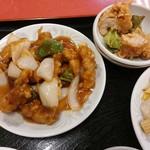 レストハウス・キング - 酢豚、鶏の唐揚げ【2017.12】