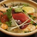 和の食彩 古城 - 海鮮漬け丼1,200円