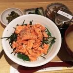 さち福や CAFE - 天然紅鮭の姫丼