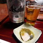 79032105 - 瓶ビール(大)(620円・込)口取り(さわらのタキ)(100円・込)