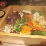 駿府の台処 静岡ごぜん - 蒸されたお野菜