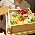 駿府の台処 静岡ごぜん - せいろ蒸しの野菜