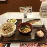 79038353 - サバ朝食+納豆