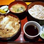 日本そば文化庵 - カツ丼セット