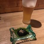 小さな島酒場 デコパ - 生ビールとわさび岩のり