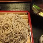 徳一 - 料理写真:会津地鶏せいろそば・大盛り(¥1150+300)