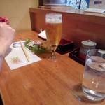 大衆料理 こがね - 小ビールと焼酎