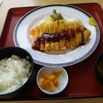 旅館食堂 くり屋 - 黒豚とんかつ定食 1,150円
