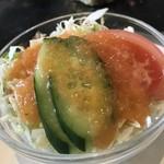 亜胡 - 定食のサラダ