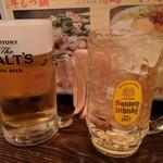立ち呑み 粋 - 生ビールとハイボール