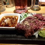 もつ焼き 煮込み 楓 - 牛ハラミポン酢(炙り)