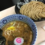 中華蕎麦 とみ田 - 連れの濃厚つけめん。ちょっと寂しいビジュアルでした('18/01/07)