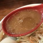 鶉 - 【2018.1.4】赤味噌ベースのスープ。
