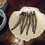 民芸茶房 - 2018年1月 きびなご干物(サービス)