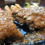 西洋食堂 - 料理写真:ガーリックハンバーグ定食950円