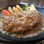 西洋食堂 - ガーリックハンバーグ定食950円