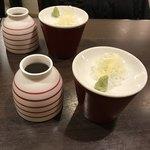 横浜 晋山 - 蕎麦つゆと薬味