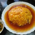 天慎飯店 - トクトクジャンボ(二人前盛り)の蟹玉のかけ御飯 1,300円